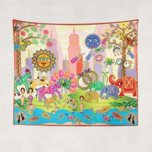 Bollyworld Multicolored Tapestry by BollyDoll