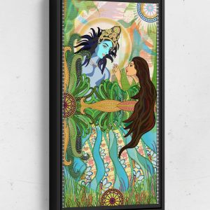 Bolly Amazed by Krishna Long Vertical Matte Framed Canvas Wall Art