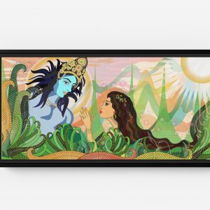 Bolly Amazed by Kishna Long Horizontal Matte Framed Canvas Wall Art