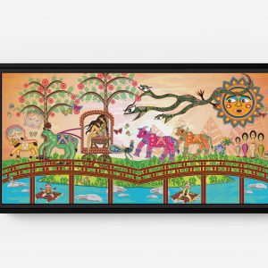 Bolly Attacked by a Snake Long Horizontal Matte Framed Canvas Wall Art