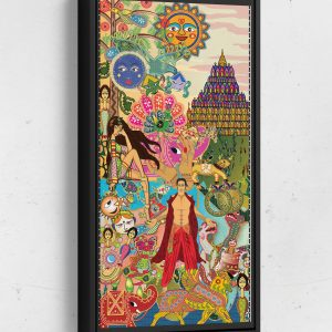 Bollywood Page 1 Long Vertical Matte Framed Canvas Wall Art