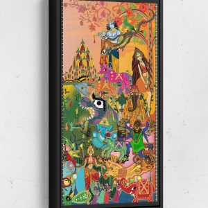 Bollywood Page 2 Long Vertical Matte Framed Canvas Wall Art