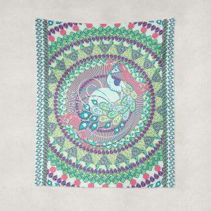 Peacock Orissa Tapestry