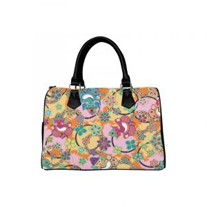 Ganesh Print Blue and Pink Handbag