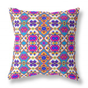 Flower Opal Cross Indoor Throw Pillow