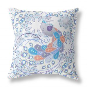 Summer Angel Peacock Indoor Throw Pillow