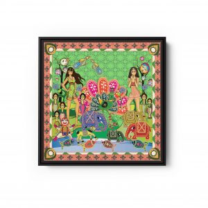 Rani and Sheena Square Canvas Wall Art