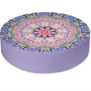 Baroque Mandala Round Floor Cushion