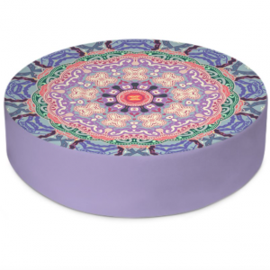 Baroque Mandala Round Floor Cushion