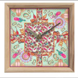 Birds of Cosmic Love Mantle Clock