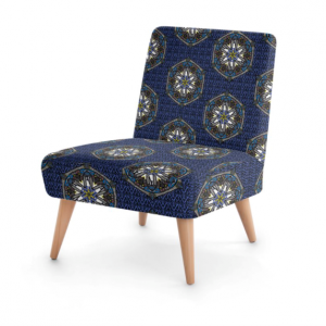 Blue Geo Occasional Chair