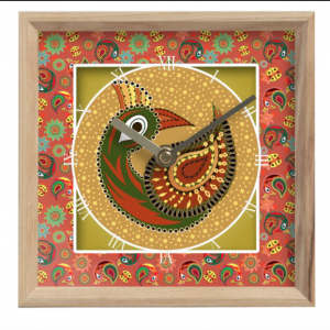 Multi Pattern Peacock Mantle Clock