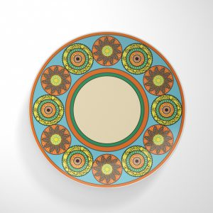 Flower Wheels Dinnerware Plate