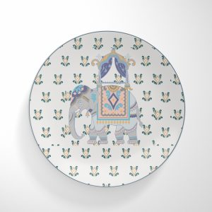 Purple Elephant Dinnerware Plate