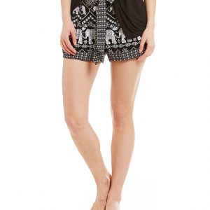Elephant Print Lounge Shorts