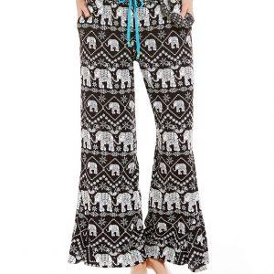 Elephant Print Palazzo Lounge Pants