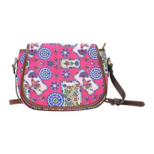 Fish Frame Coral Pattern Saddle Bag