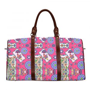 Fish Frame Coral Pattern Travel Bag