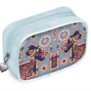 Fish Frame on Blue Pouch Purse