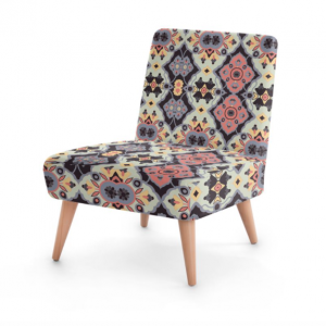 Flower Opal Cross Black and Gray Occasional Chair