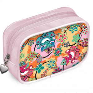 Ganesh Print Pink and Blue Pouch Purse