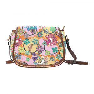 Ganesh Print Blue and Pink Saddle Bag
