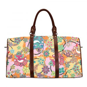 Ganesh Print Blue and Pink Travel Bag