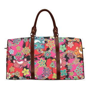 Ganesh with Lotus Print Travel Bag