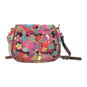 Ganesh with Lotus Flower Saddle Bag