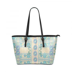 Lotus Flower Leather Tote Bag