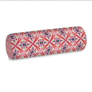Lotus Flower Red and Purple Big Bolster Cushion