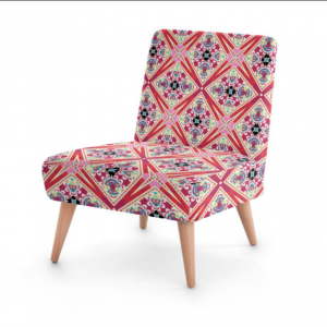 Lotus Flower Red and Purple Occasional Chair