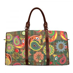 Orange Peacock Travel Bag