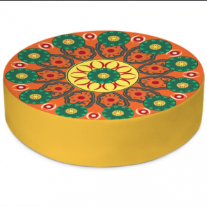 Flower Wheels Round Floor Cushion