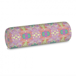 Purple Pastel Wire Henna Bolster Cushion