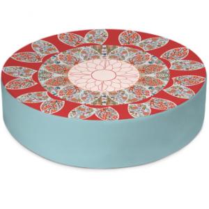 Extravagant Floral Round Floor Cushion