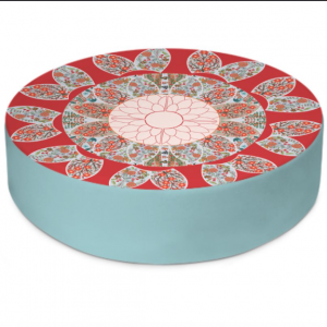 Extravagant Floral Round Floor Cushion