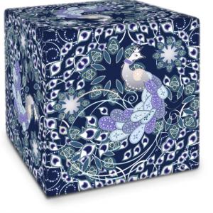 Summer Angel Peacock Indigo Cube
