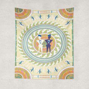 GeoMen Indoor Hemmed Tapestry