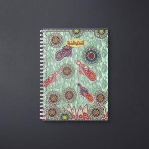 Birds With Circles Notebook