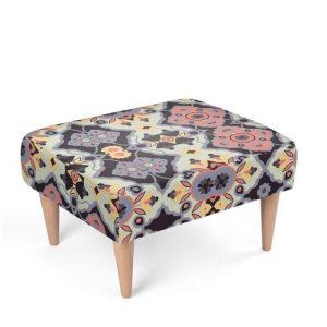Flower Opal Cross Footstool
