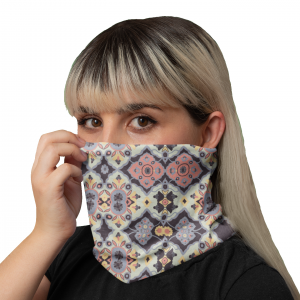 Flower Opal Red Neck Gaiter