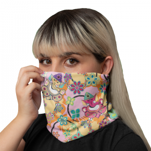 Ganesh with Lotus Neck Gaiter