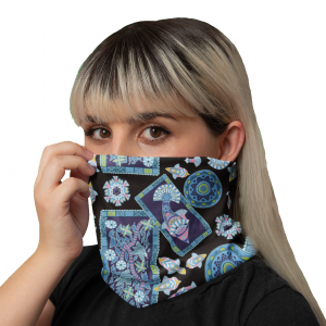 Fish Frame Black Neck Gaiter
