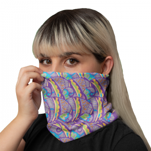 Henna Flower Neck Gaiter