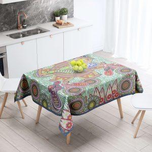 Bird on a Wheel Table Cloth