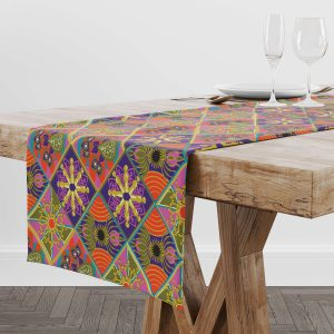 The Reverse Square Patch Table Runner