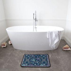 Emerald on Snowflakes Bath Mat