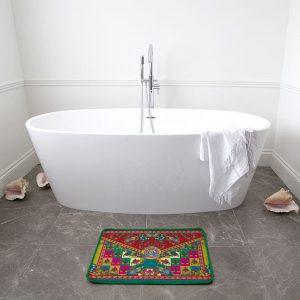 Knights Pattern-with Border Bath Mat