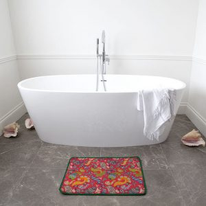 Multi Henna Pink Back  Bath Mat